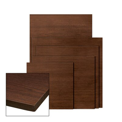 Corsa Square Umbrella Table Top Finish: Wenge, Size: 28 x 32