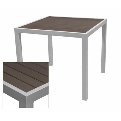 Nevada Dining Table Table Size: 25.5 L x 25.5 W, Base Finish: Black, Top Finish: Espresso