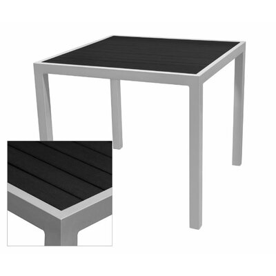Nevada Dining Table Table Size: 37.5 L x 37.5 W, Top Finish: Black, Base Finish: Espresso