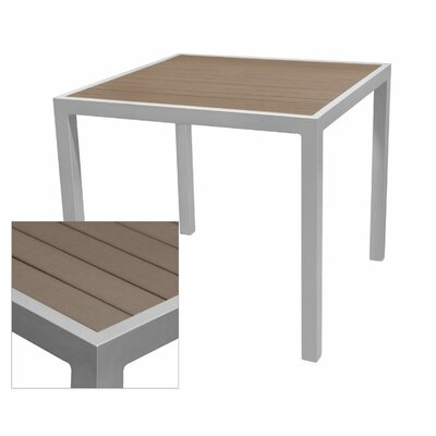 Nevada Dining Table Table Size: 33.5 L x 33.5 W, Top Finish: Gray, Base Finish: White