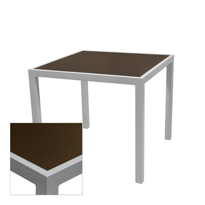 Corsa Bar Table Table Size: 32 L x 32 W, Frame Finish: Black, Top Finish: Espresso