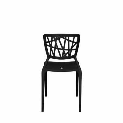 Phoenix Dining Side Chair Finish: Black