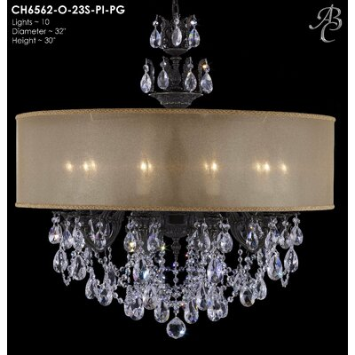 Llydia 10-Light Drum Chandelier