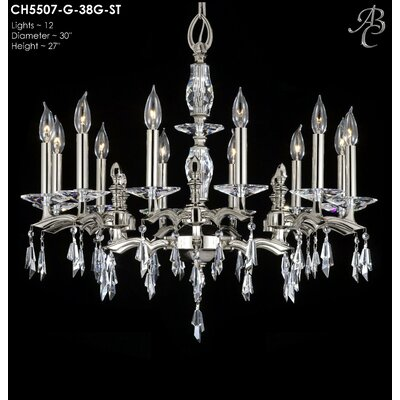 Kaya 12-Light Candle-Style Chandelier Finish: Pewter