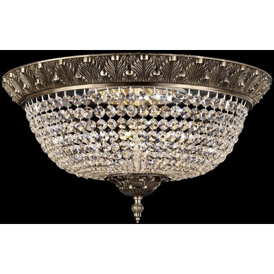 Corinthian Flush Mount Finish: Antique Silver