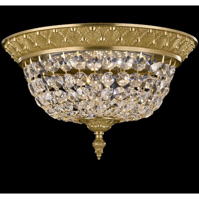 Corinthian Flush Mount Finish: French Gold Glossy