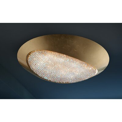 Blink 6-Light Flush Mount Crystal Grade: Cut Crystal, Shade Color: Matte White