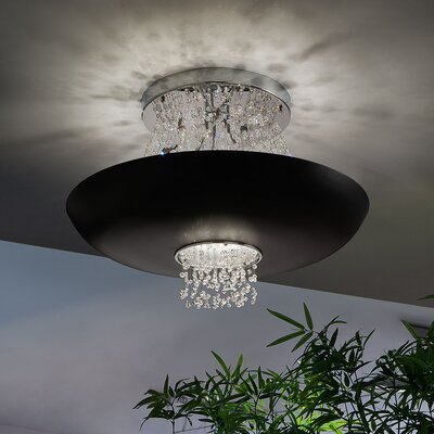Empire 9-Light Semi-Flush Mount Shade Color: Matte Black