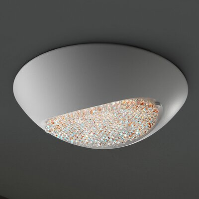 Blink 4-Light Flush Mount Shade Color: Matte White, Crystal Grade: Cut Crystal