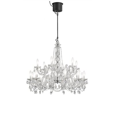 Drylight LED 18-Light Crystal Chandelier
