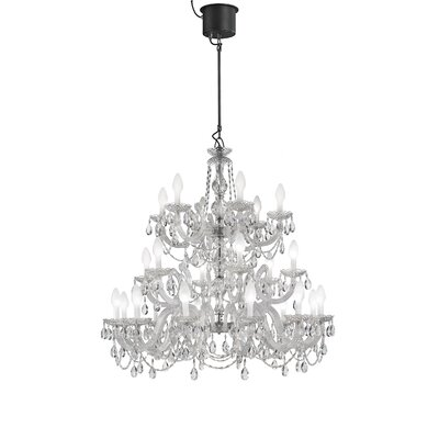 Drylight LED 24-Light Crystal Chandelier