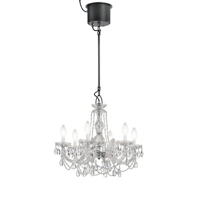 Drylight LED 6 Light Crystal Chandelier