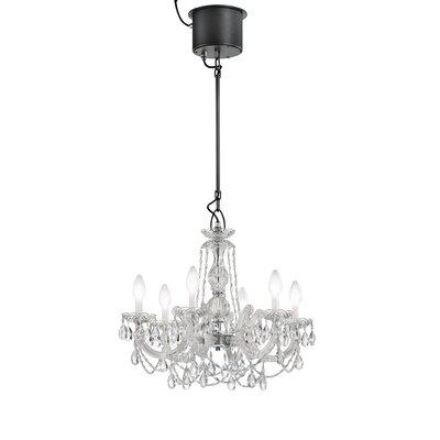 Drylight LED 6-Light Crystal Chandelier
