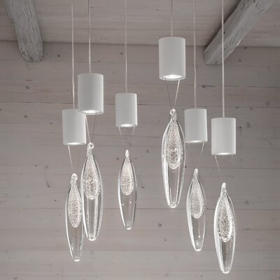 Anima 6-Light Cluster Pendant Crystal Color: Silver