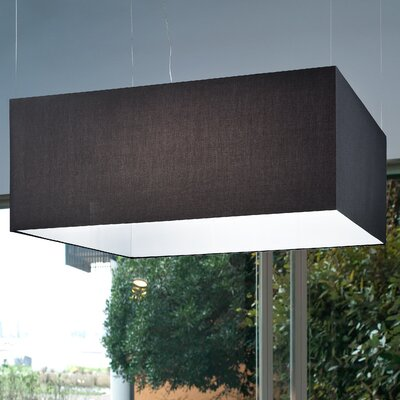 Tessuti Square 6-Light Kitchen Island Pendant Shade Finish: Black