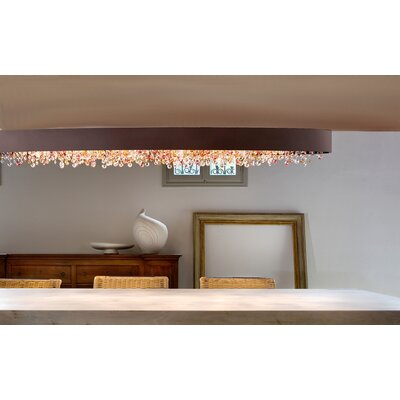 Ola 6-Light Semi Flush Mount Finish: Silver Leaf