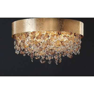 Ola 6-Light Semi Flush Mount Finish: Gold Leaf, Size: 24W