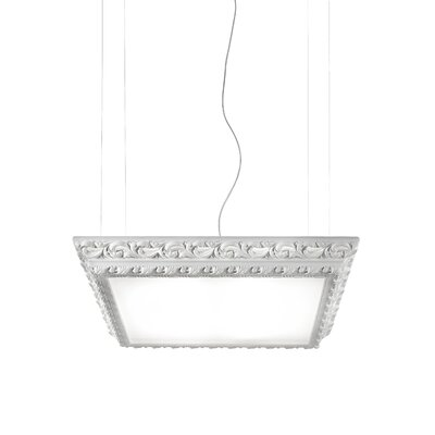 Arte LED Light Square Hanging Ceiling Fixture Finish: Gloss Dark Red, Dimmable: No