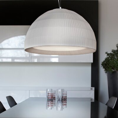 Tessuti Dome 1-Light Mini Pendant Shade Finish: Ivory