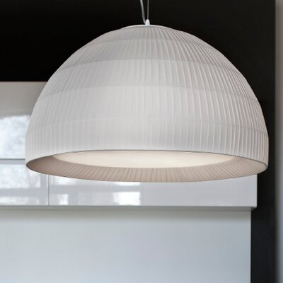Tessuti Dome 3-Light Pendant Shade Finish: Ivory