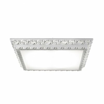 Arte LED Light Square Flush Ceiling Fixture Finish: Gloss Green, Dimmable: No