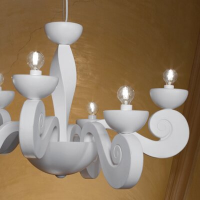 Botero 6-Light Candle-Style Chandelier Color: White