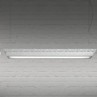 Arte Linear LED Light Hanging Ceiling Fixture Finish: Gloss Dark Red, Dimmable: No