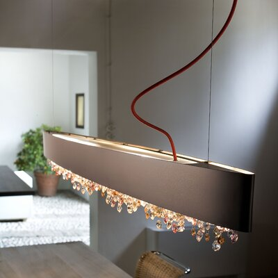 Ola 4-Light Pendant Shade Finish: Matte Bronze