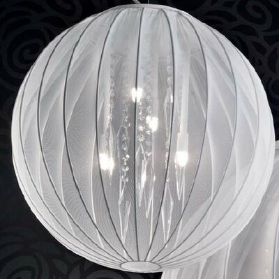 Tessuti Sphere 4-Light Medium Globe Pendant Shade Finish: White