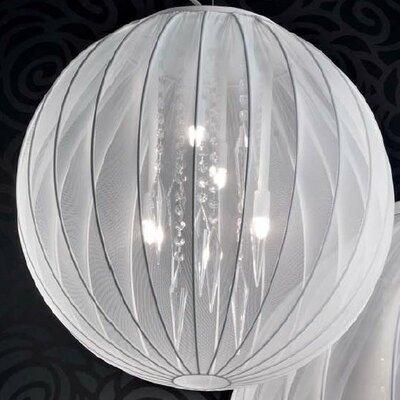 Tessuti Sphere 4 Light Medium Globe Pendant Shade Finish: White