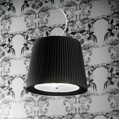 Tessuti Cone 2-Light Drum Pendant Shade Finish: Black