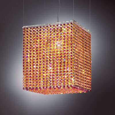 Aurea 5 Light Pendant Finish: Chrome, Crystal Type: Asfour, Crystal Color: Light Perdot