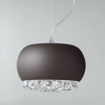 Mir 2-Light Mini Pendant Crystal Type: Asfour, Shade Finish: White