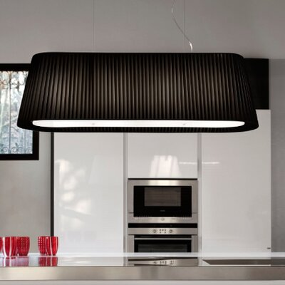 Tessuti Oval 2-Light Kitchen Island Pendant Shade Finish: White