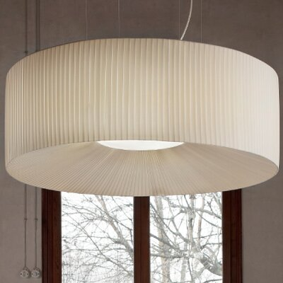 Tessuti Round Drum Pendant Shade Finish: Tobacco, Size: Large