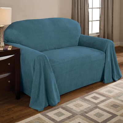 Coral Box Cushion Armchair Slipcover Upholstery: Teal