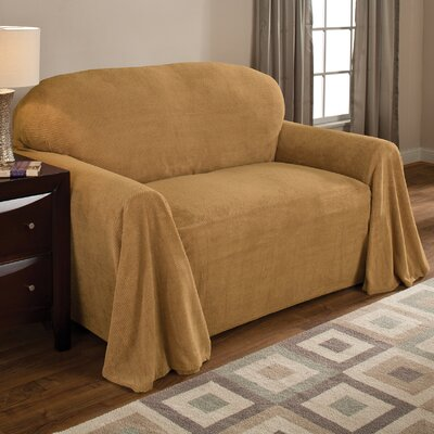 Coral Polyester Fleece Armchair Slipcover Upholstery: Wheat