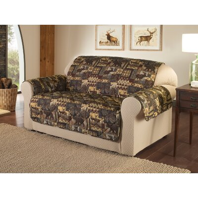Lodge Box Cushion Loveseat Slipcover
