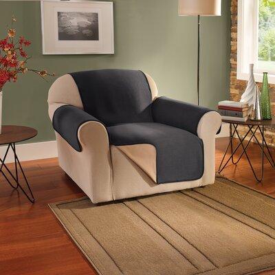 Box Cushion Armchair Slipcover Upholstery: Black