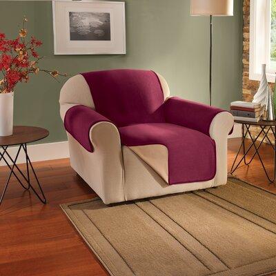Armchair Slipcover Upholstery: Burgundy