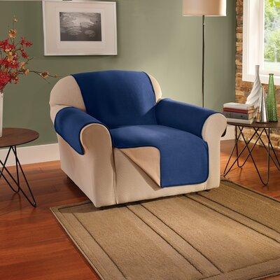 Armchair Slipcover Upholstery: Navy