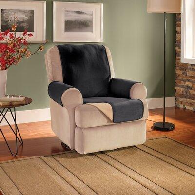 T-Cushion Recliner Slipcover Upholstery: Black