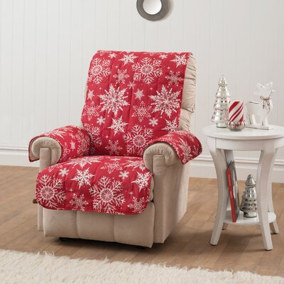 Armchair Slipcover Upholstery: Red