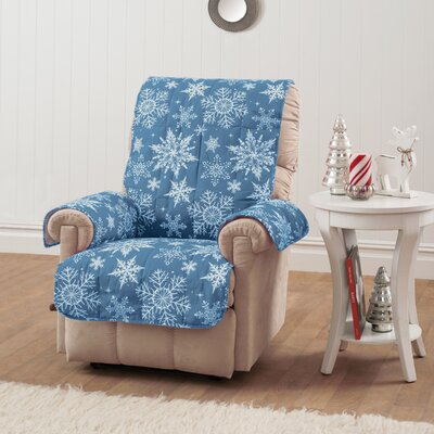 Box Cushion Recliner Slipcover Upholstery: Blue