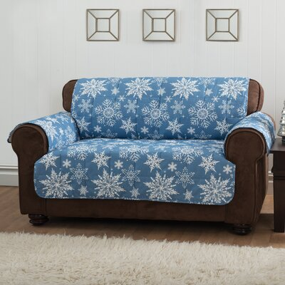 Loveseat Slipcover Upholstery: Blue
