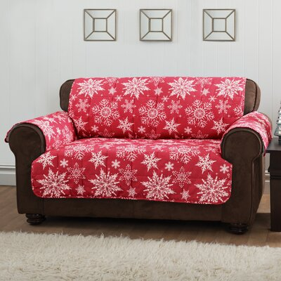Sofa Slipcover Upholstery: Red