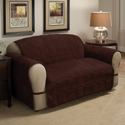 Box Cushion Armchair Slipcover Size: 98.5 H x 164 W, Upholstery: Chocolate