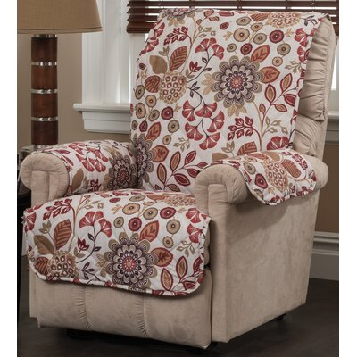 Palladio Recliner Slipcover Upholstery: Rust