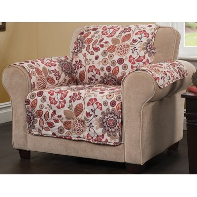Palladio Box Cushion Armchair Slipcover Upholstery: Rust