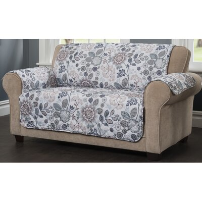 Palladio Loveseat Slipcover Upholstery: Blue